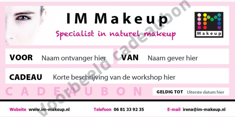 voorbeeld makeup cadeubon