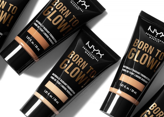 NYX Born To Glow Naturally Radiant foundation dierproefvrij