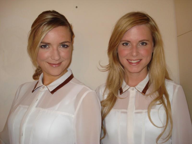 blonde vrouwen met mooie naturel makeup